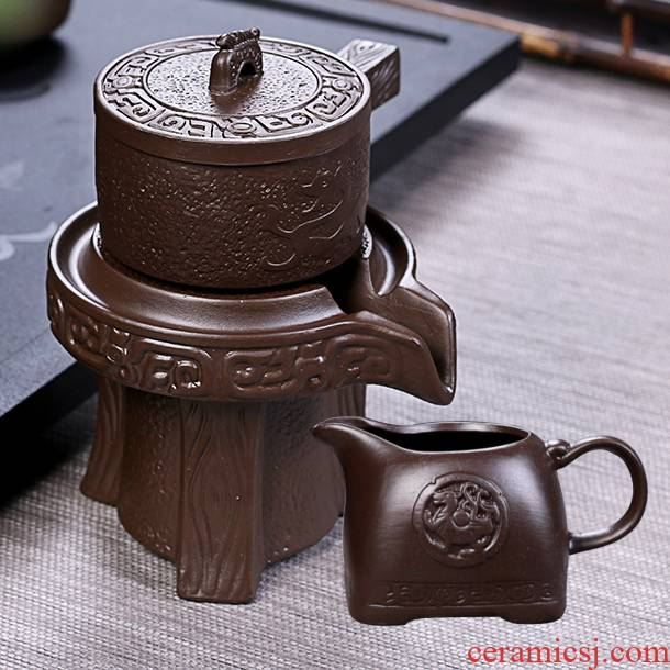 Violet arenaceous) suit tea tea strainer filter creative semi - automatic kung fu tea tea accessories an artifact