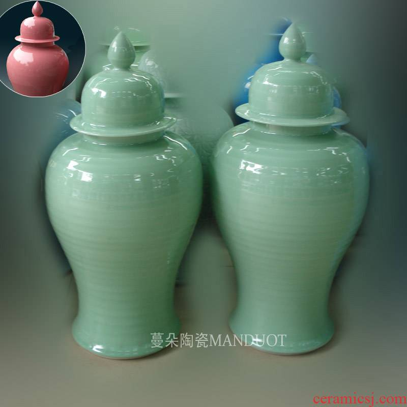 Jingdezhen celadon pure color general pot now the hotel soft outfit that occupy the home furnishings general avant - garde elegant vase