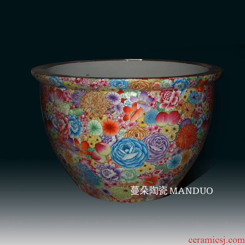 Jingdezhen custom hand - made flower porcelain to heavy vats hand - made porcelain cylinder 1-1.3 m