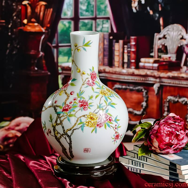 Red xin ipads porcelain vase mesa of nature science wearing flower tree household wealth flower furnishing articles do not contain the base