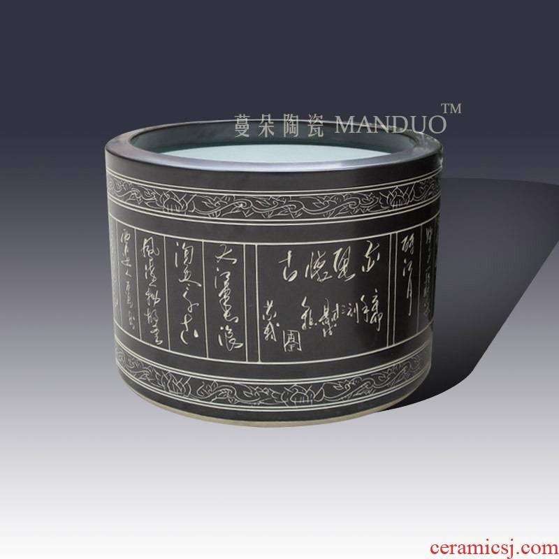 Jingdezhen bulky quiver straight lettering ceramic vase quiver studies display culture vase quiver
