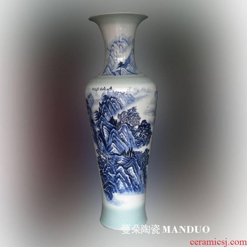 Jingdezhen hand - made of 16 meters big gains underpins activity porcelain vase sitting room furnishings gifts big vase landed high - grade bottle