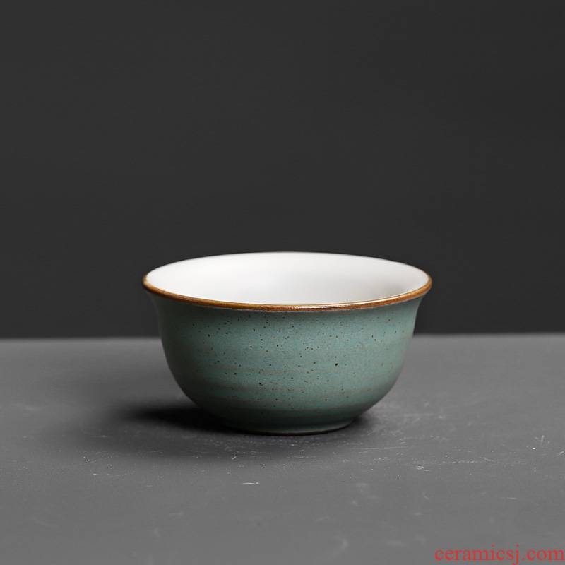 Small single CPU kung fu tea cups archaize nostalgic Chinese wind restoring ancient ways boutique owner only ceramic medium cup