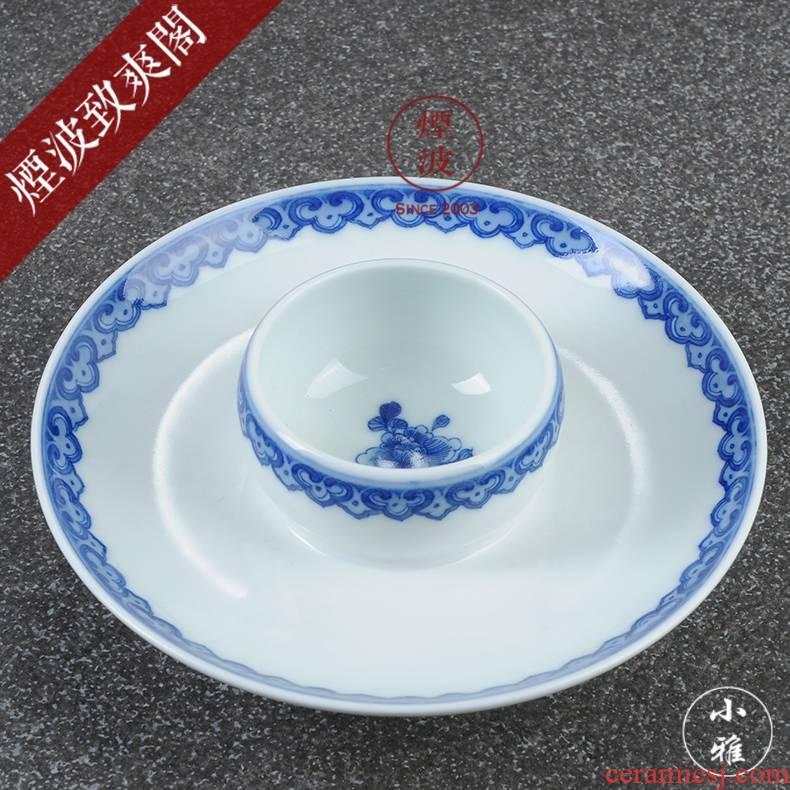 Those jingdezhen lesser RuanDingRong made lesser money ruyi yuntou lamp cup
