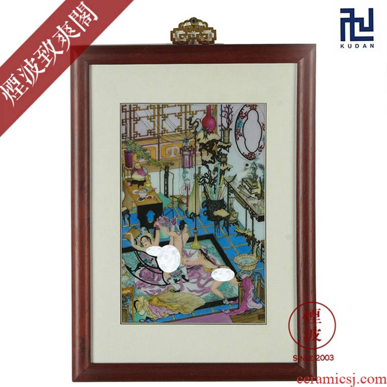 Jingdezhen nine calcinations experienced painters hand - made ceramic version of jin ping mei porcelain plate painting 32 * 48