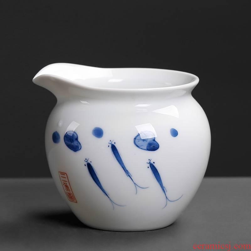 Blue and white contracted hand - made fair keller tea tea is tea ware points home tea tea and glass ceramic 200 ml