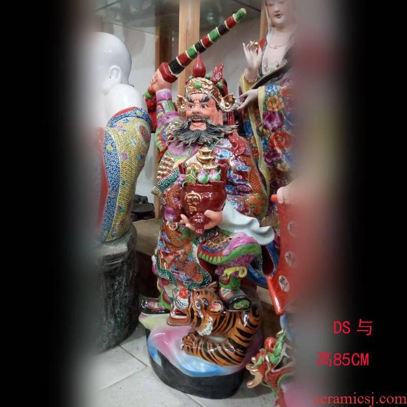 Jingdezhen manual pastel 52 cm gawain mammon 47-130 cm tall Zhao Gongming ceramic its porcelain furnishing articles