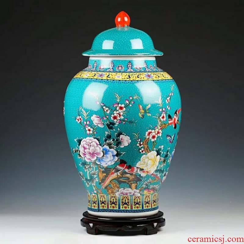 Jingdezhen 60 cm high general ceramic porcelain jar of high - grade ceramic porcelain barrel household furnishing articles