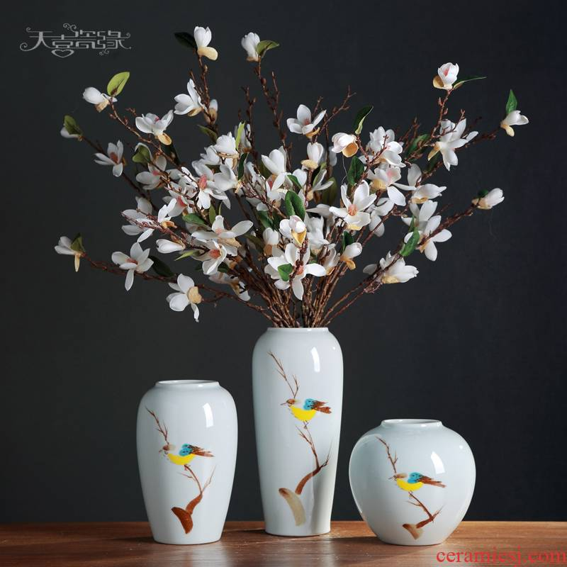 Modern creative simple ceramic flower arranging machine table vase furnishing articles, the sitting room porch TV ark, home decoration