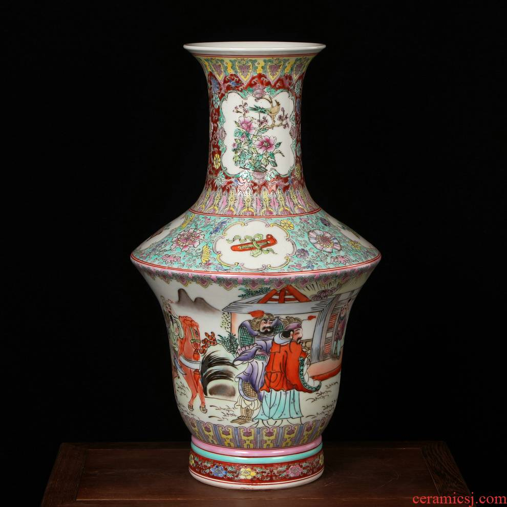 Jingdezhen ceramics factory goods pastel the king of the imitation of xian admiralty large vases, antique home decoration decoration furnishing articles
