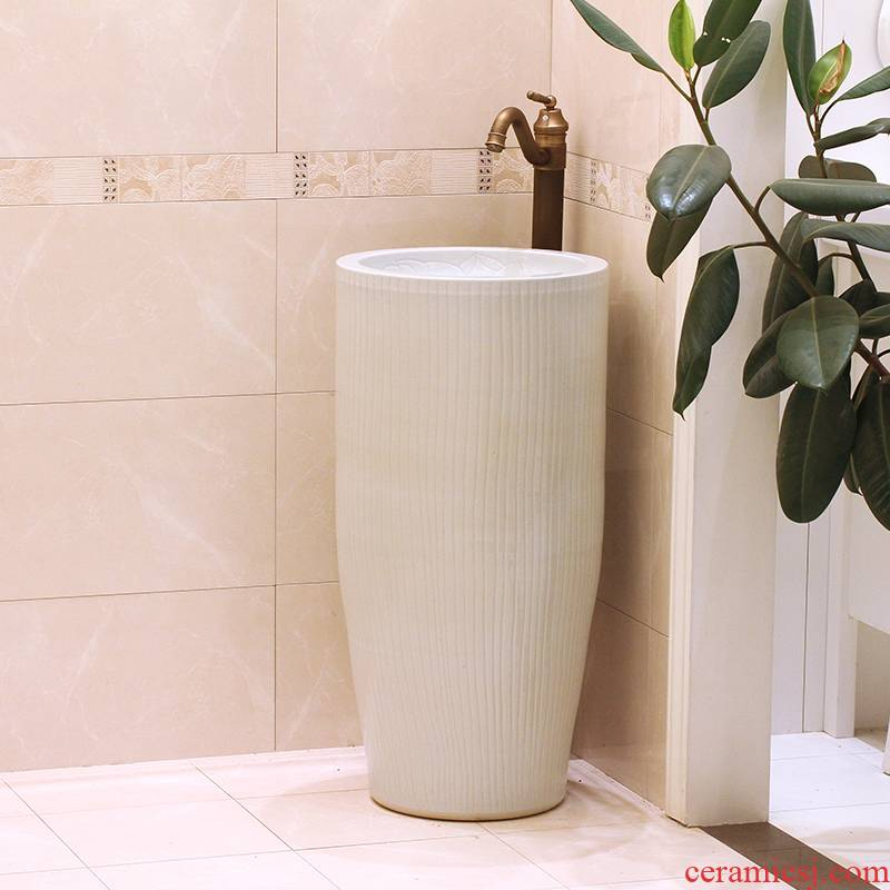 Jingdezhen ceramic art basin sinks pillar sink basin bathroom sinks European archaize on stage