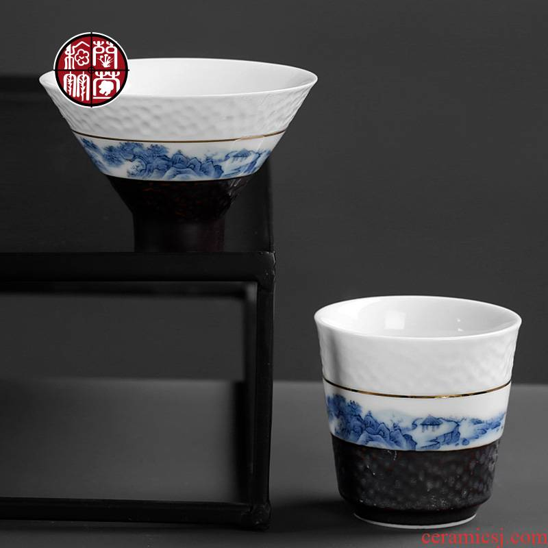 Perfectly playable cup only 5 porcelain retro creativity was hammer ceramics single kung fu tea cups of move