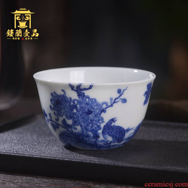 All the kernel enterprise bek integrated owner one cup of jingdezhen ceramic art family hand - made single CPU kung fu tea set personal tea cup