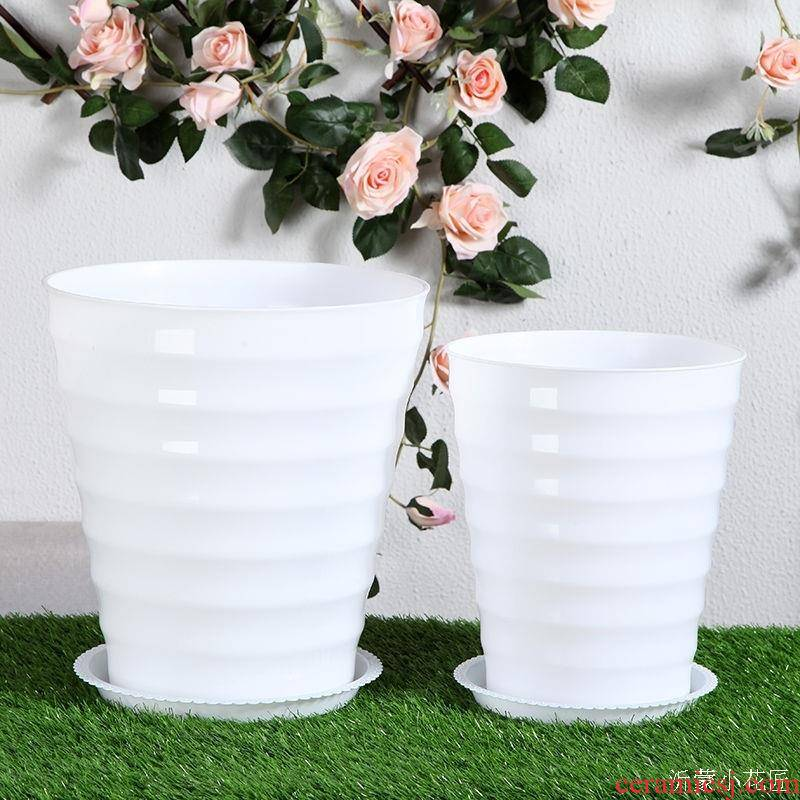 Happy tree special heavy flowerpot yushu gardenia designed money tree imitation ceramic large clearance oversized to plant trees