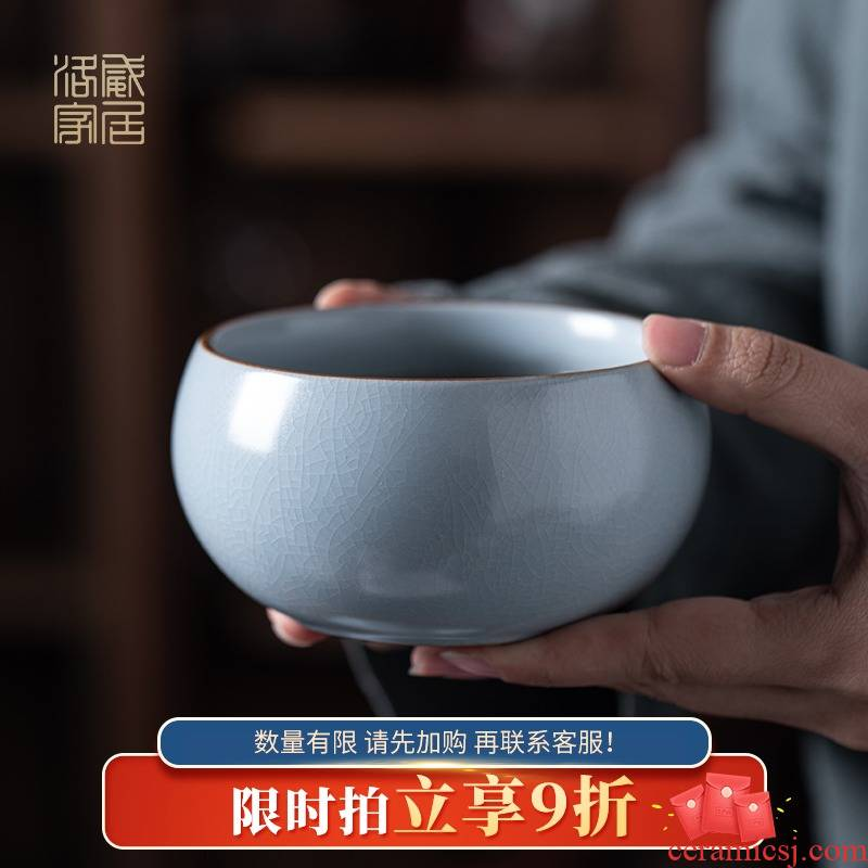 Tea to wash to the small household writing brush washer from your up ceramic Tea set with parts washing bowl pot of Tea taking for zero water jar is built water washing
