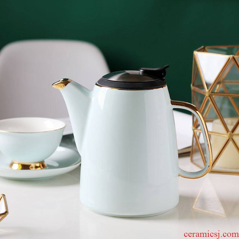 British ceramic teapot high - temperature teapot large household flower pot with cold filter kettle suit the teapot