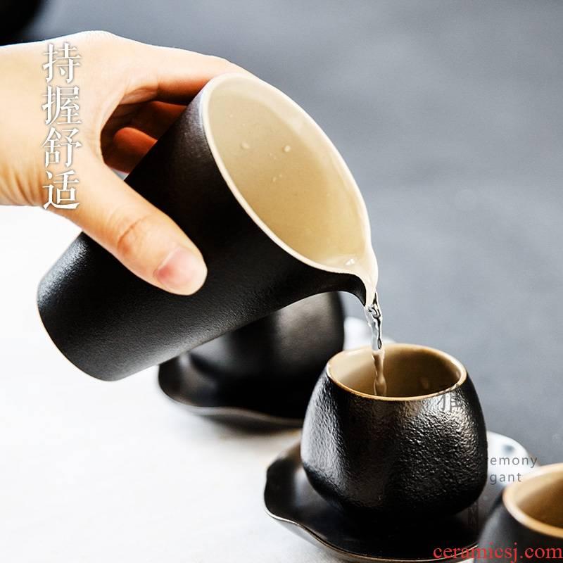 Qiao mu YWT new black pottery ceramic fair keller large coarse pottery portion male cup tea, kung fu tea tea tea