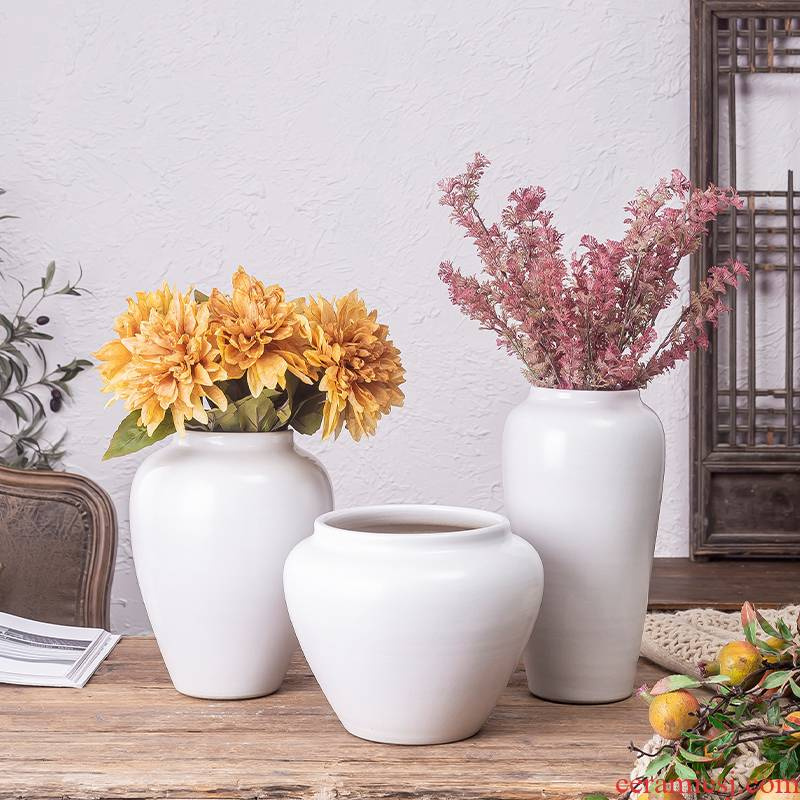 I and contracted land sitting room creative flower arranging dried flower vases, flower art furnishing articles furnishing articles home decoration ceramics