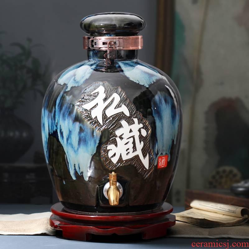 An empty bottle of jingdezhen ceramic jars 10 jins 20 jins 30 pounds it 50 kg waxberry wine bottle