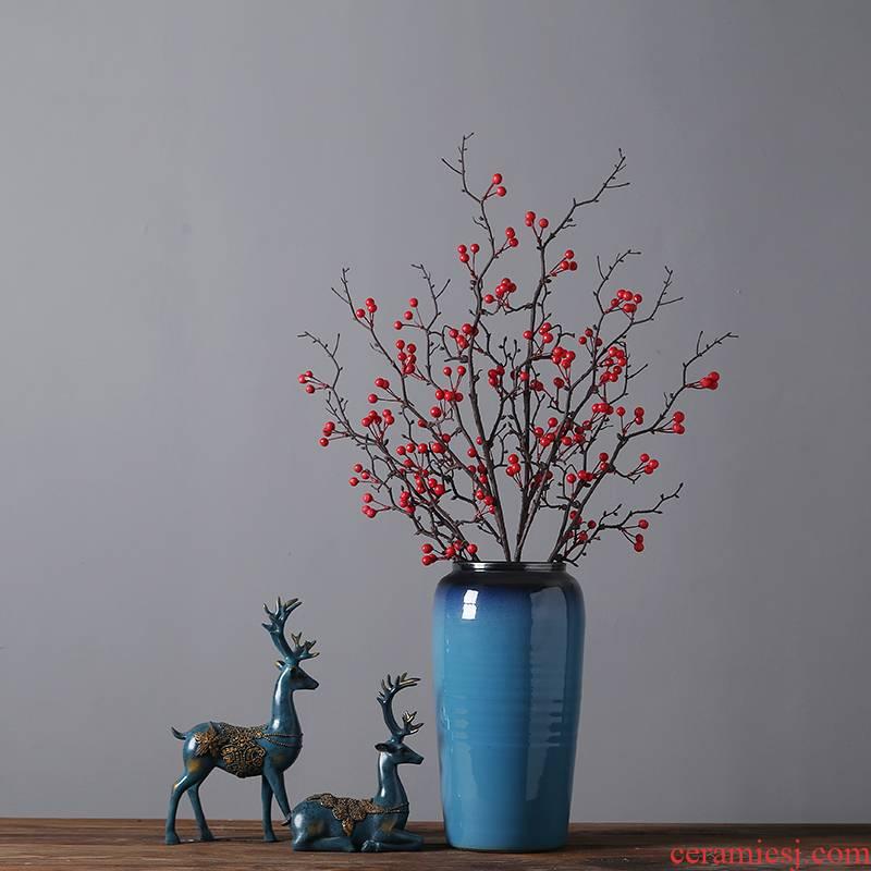 Jingdezhen modern creative household porcelain vases furnishing articles sitting room porch TV cabinet table decoration decoration