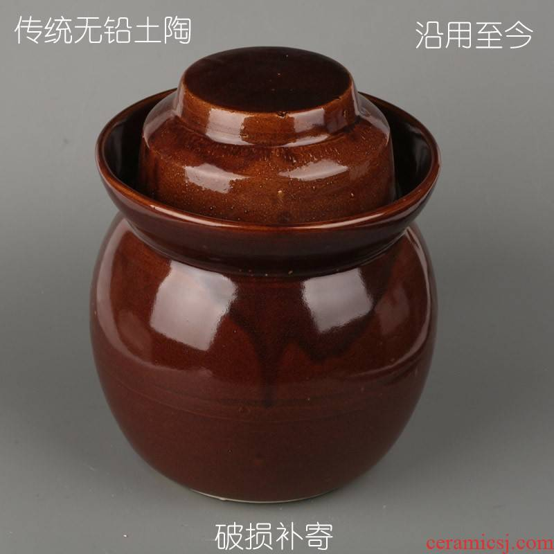Insect - resistant water injection pickles pickled ceramic cylinder earthenware pickled egg can of the pot seal storage tank size package mail
