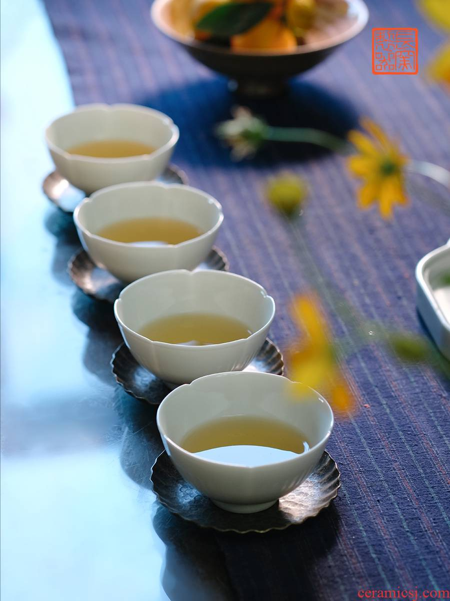 Offered home - cooked view flavour to maintain element in cup sample tea cup jingdezhen pure checking master cup of tea