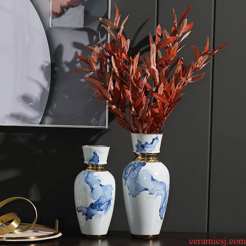 Rain tong household ceramic vases, ceramic furnishing articles between soft outfit living room collocation ornaments ceramic example act the role ofing is tasted