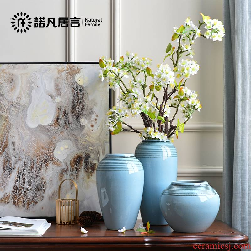 Clearance Nordic ceramic vases, flower arrangement sitting room dry flower is placed creative contracted and I floral outraged table decoration decoration