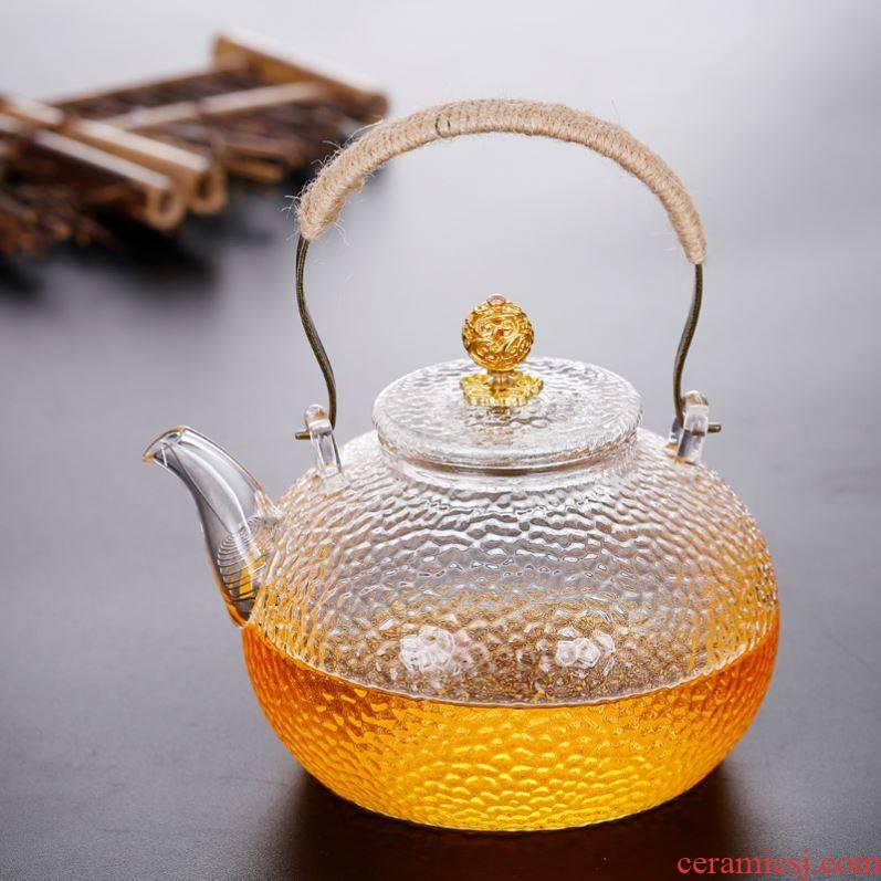 Copper TaoLu kettle boil pot of girder glass teapot electricity hammer boiled tea, the Japanese Copper pot of firing