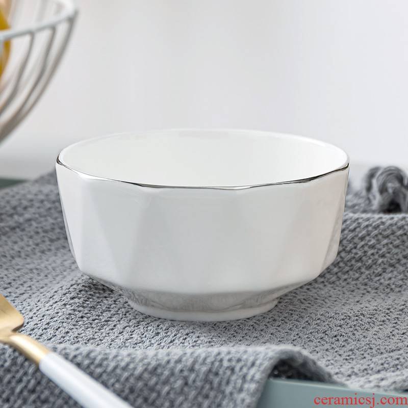 Ipads China tableware suit Chinese style ceramic bowl creative household rainbow such as bowl rice bowls up phnom penh eat rice bowl a soup bowl
