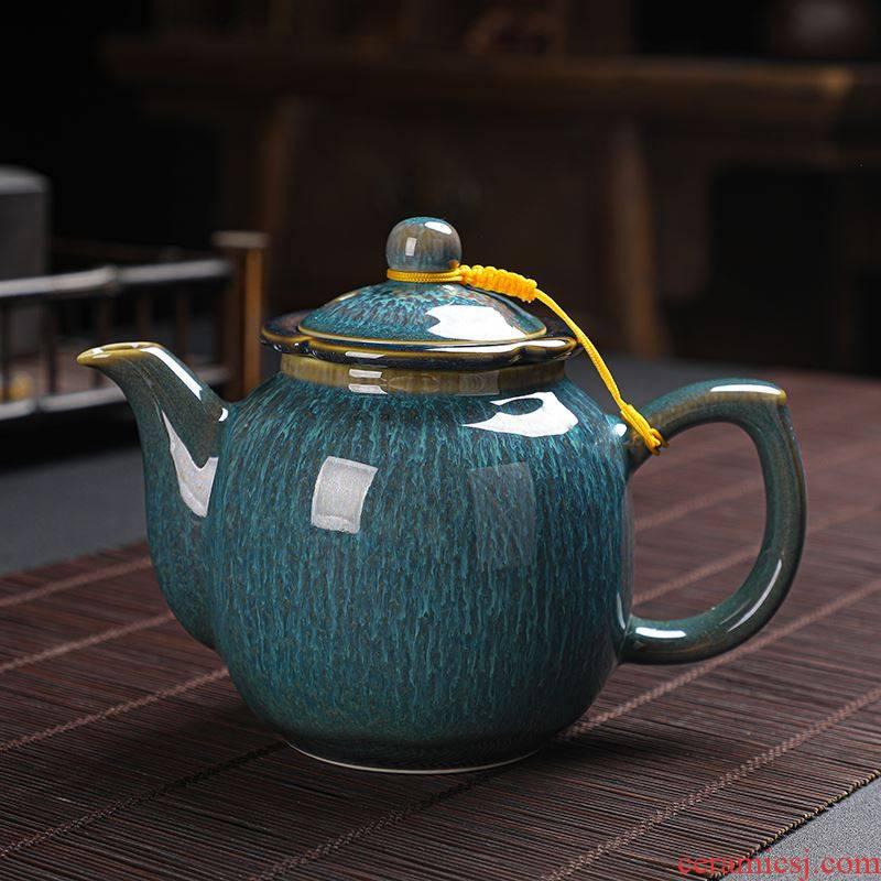 Ceramic teapot filtering variable household with single pot of large capacity tank kung fu tea tea cup set