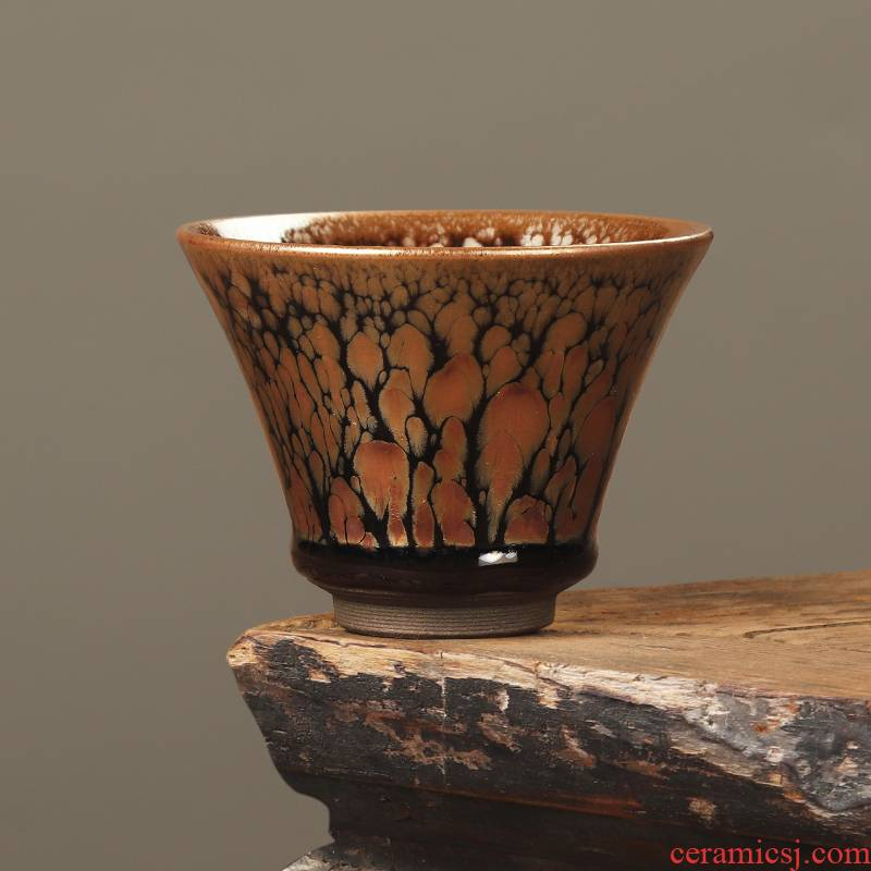 The Master artisan fairy Eric lam, building light tea cup zijin, ceramic, oil drops of iron tire pure manual Master CPU