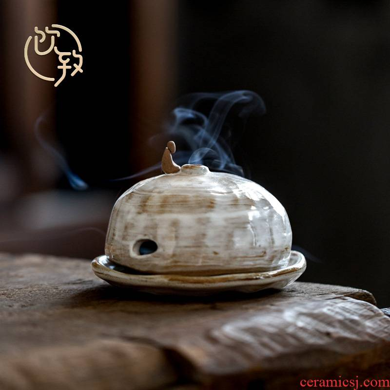 Ultimately responds chai up change hands make a censer ceramic retro indoor incense aroma stove sandalwood plate of zen tea taking for the Buddha