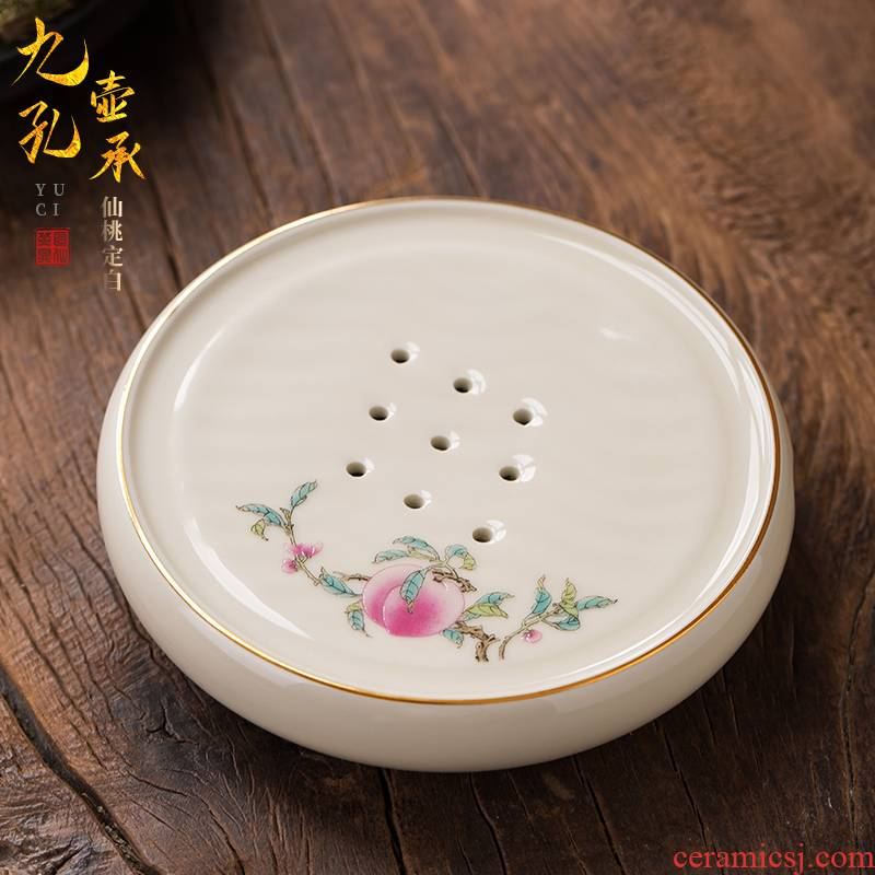 The Set artisan fairy hand - made xiantao CiHu bearing dry mercifully machine heat insulation cup mat bottom seat kung fu tea tea accessories