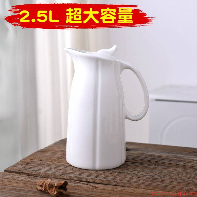 Large capacity domestic heat - resistant ceramic cup with water kettle contracted a cold cool tea kettle with a kettle