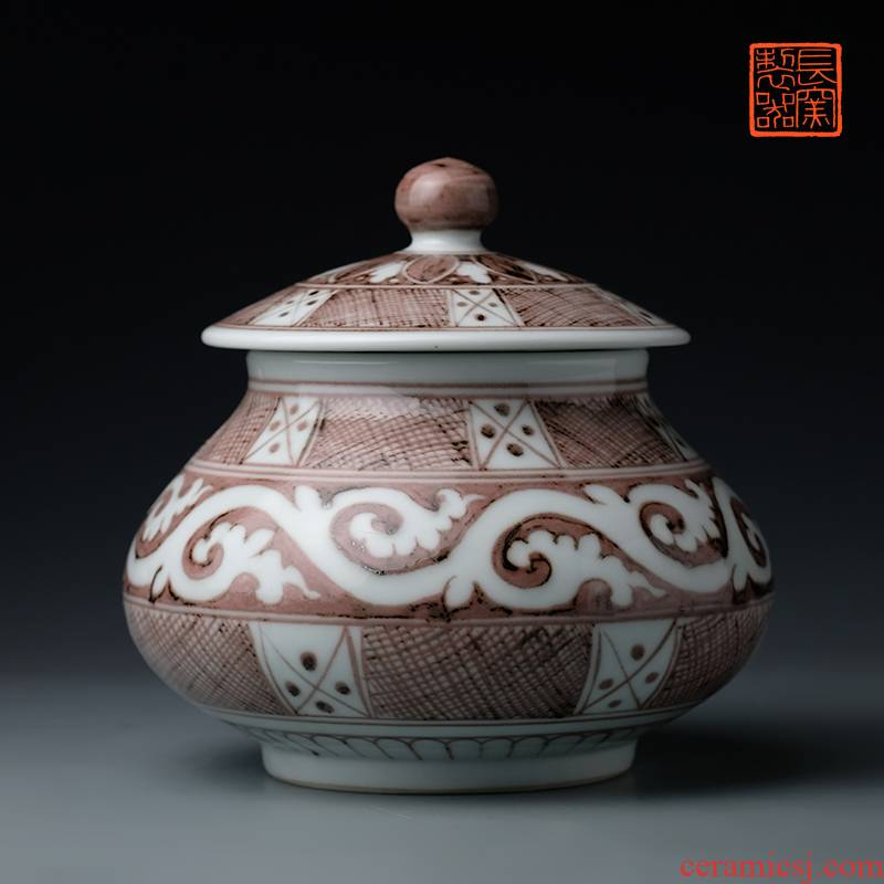 Offered home - cooked ju long up controller youligong shochiku MeiWen cover pot jingdezhen sealed as cans Chinese antique tea by hand