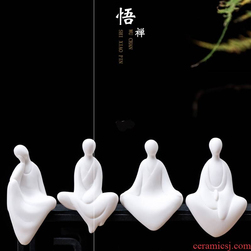 Creative ceramic decorative anddrunkenness fancy without manual mini white porcelain bonsai home sitting room small place Chinese characters