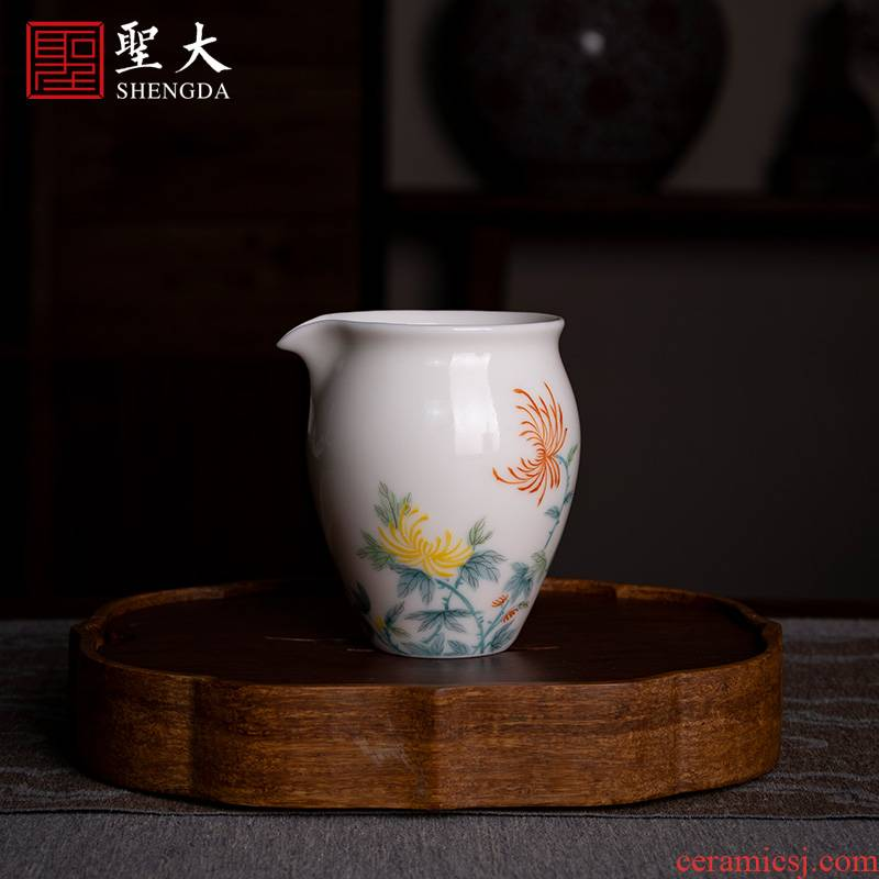 Santa jingdezhen ceramic checking hand - made by new see colour freehand brushwork in traditional Chinese justice cup
