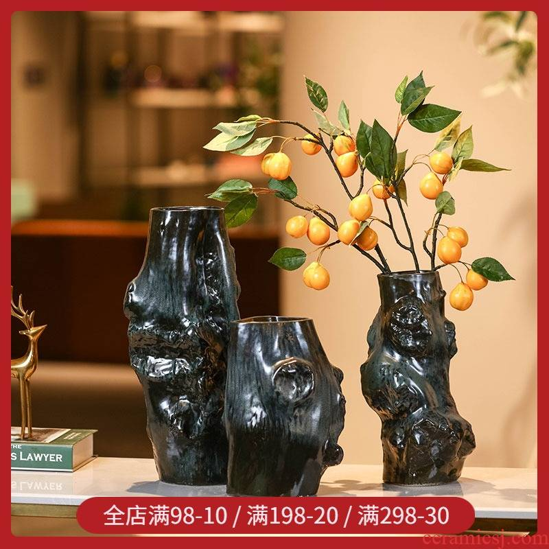 Creative home stay soft outfit decoration retro move special - shaped ceramic floret bottle of flower pot pluggable furnishing articles home decoration