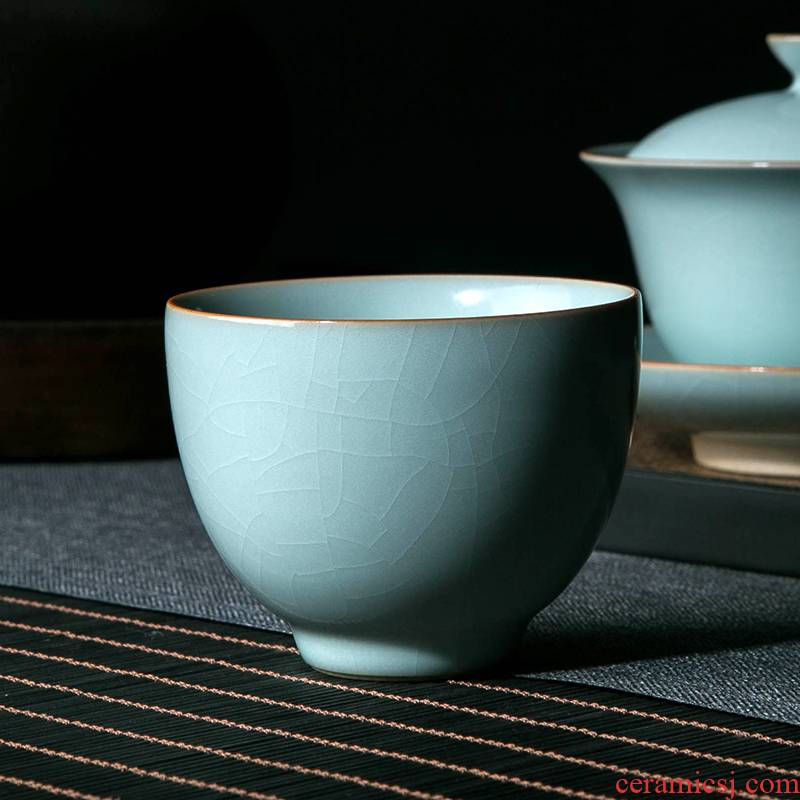 Your up master cup single cup large jingdezhen ceramic cups kung fu tea pu 'er tea cup dedicated individuals