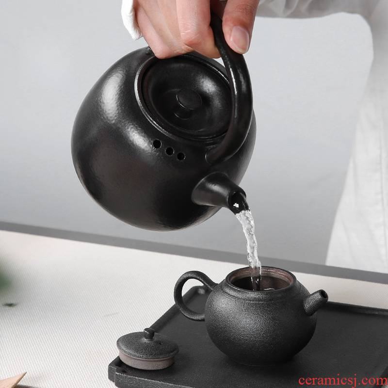 Qiao mu boiling tea machine flame'm burning charcoal'm Japanese household kung fu tea stove alcohol single pot of pu terms ceramic kettle