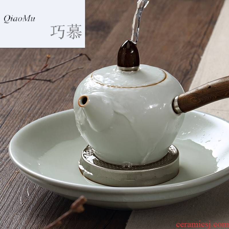 Qiao mu Taiwan FengZi your up dry water table circular bearing kung fu tea set of the dry tea pot dish checking ceramic dry