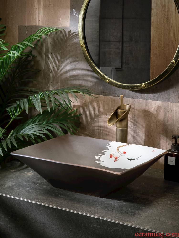 Restore ancient ways the stage basin to single birdbath simple toilet lavabo lavatory basin basin ceramic household balcony