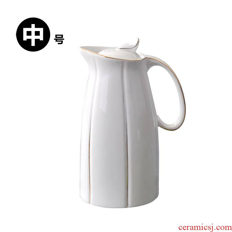 Cool ceramic kettle high - capacity large domestic high temperature resistant suit European pot boiling water cold summer big kettle
