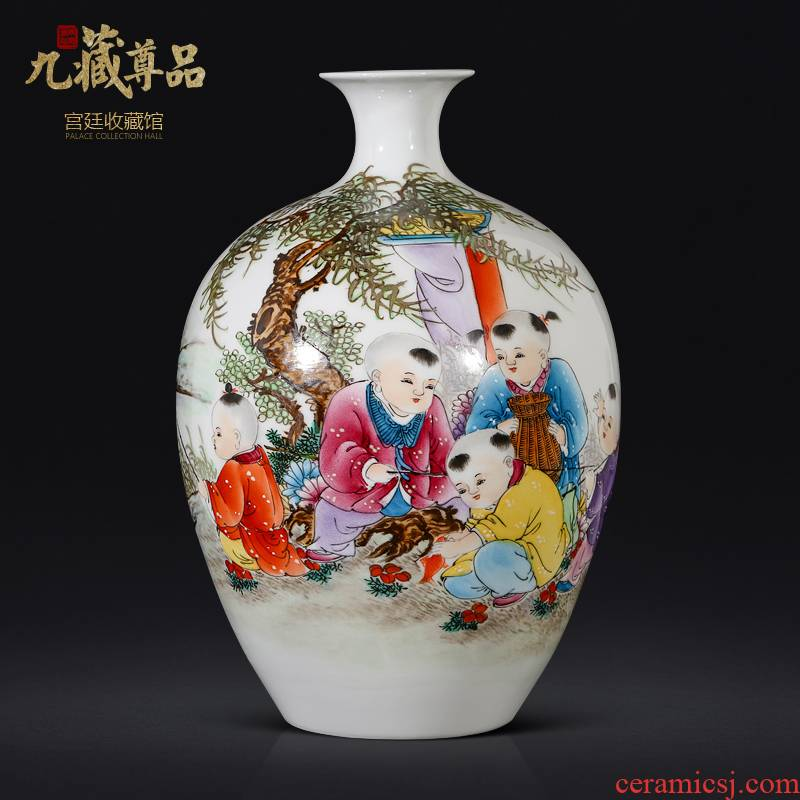 The Master of jingdezhen ceramics hand - made lad vases, new Chinese style living room TV ark, flower arranging porch is decorated furnishing articles