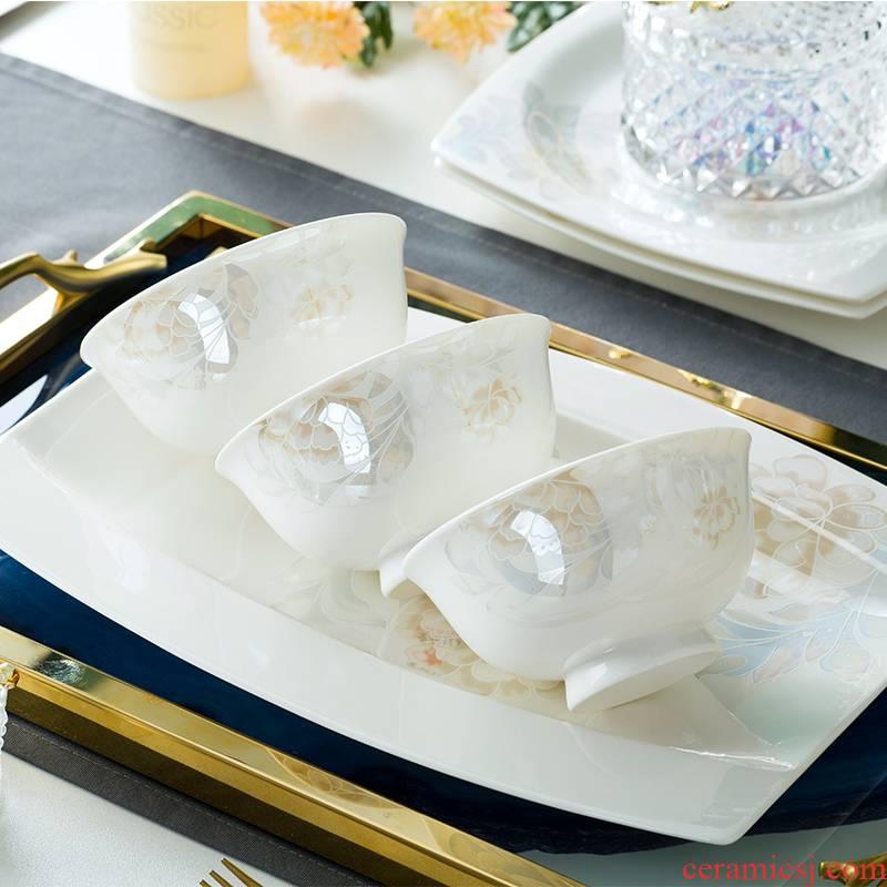 Creative household contracted ceramic bowl dish dish dish dish of fish, rainbow such as bowl bowl single jingdezhen ceramic tableware