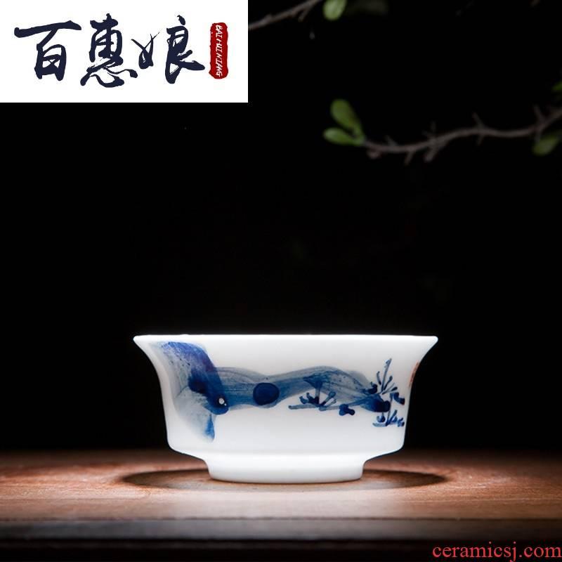 (girl friend the bai shi pavilion kung fu tea set a complete set of hand made white porcelain of jingdezhen ceramics small tureen porcelain cups