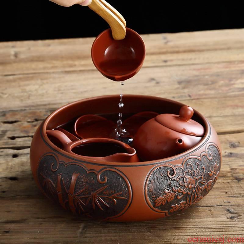 Kung fu for wash your purple sand tea tea tea wash to large capacity multi - functional tea wash tea tea tea tray accessories
