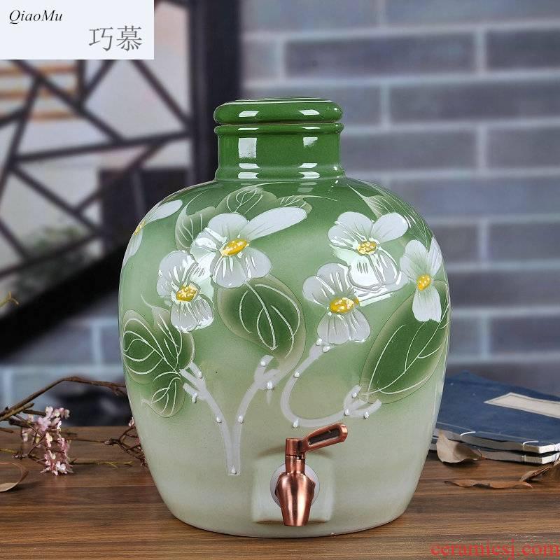 Qiao mu jingdezhen ceramic jars 10 jins 20 jins 30 pounds it 50 kg bottle bottle seal wine jars