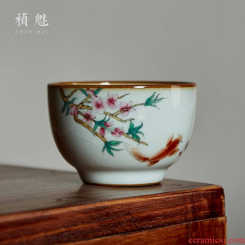 Shot incarnate the hand - made your up open piece of jingdezhen ceramic cups kung fu tea set sample tea cup can keep the master cup single CPU
